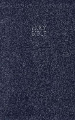 KJV Reference Bible: King James Version, navy blue bonded leather, silver-edged, words of Christ in red, with concordance