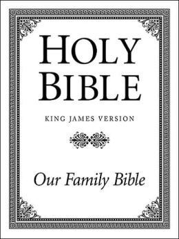Three Column Family Altar Bible: King James Version (KJV), white imitation leather, words of Christ in red