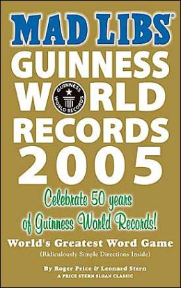 Guinness Book of World Records Mad Lib