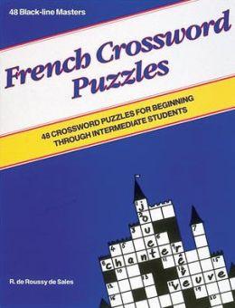 French Crossword Puzzles Blackline