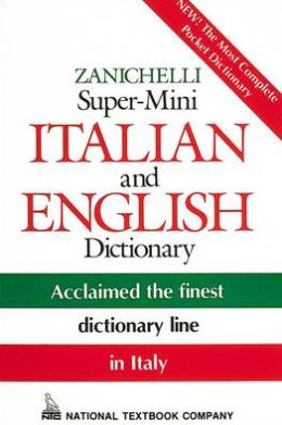 Zanichelli Super-Mini Italian and English Dictionary
