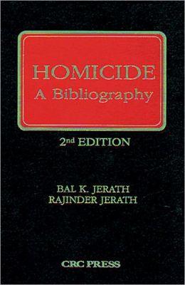 Homicide, A Bibliography