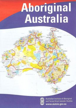 Aboriginal Australia Map - large folded
