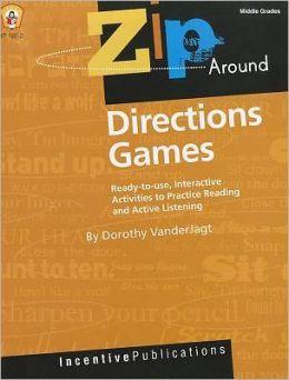 Zip Around Games Directions