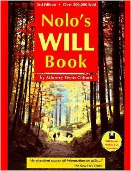Nolo's Will Book (formerly Nolo's Simple Will Book)