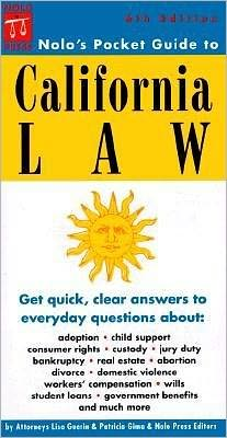Nolo's Pocket Guide to California Law
