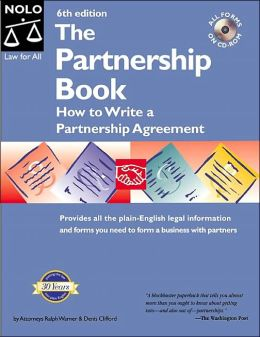 The Partnership Book: How to Write a Partnership Agreement with Cdrom