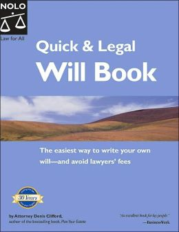 Quick and Legal Will Book: Legal Basics