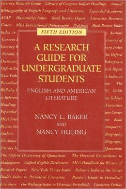 Research Guide for Undergraduate Students: English and American Literature
