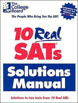 10 Real SAT's Solutions Manual