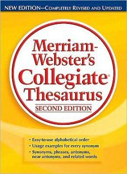 Merriam-Webster's Collegiate Thesaurus, Second Edition