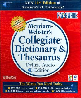 Merriam-Webster's Collegiate Dictionary & Thesaurus, Deluxe Audio Edition