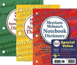 Merriam-Webster's Notebook Value Pack: Dictionary, Thesaurus, and Spanish-English Dictionary