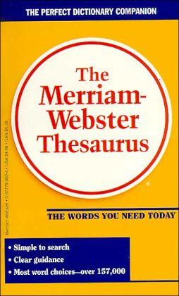 Merriam-Webster's Thesaurus