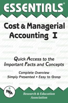 Essentials of Cost and Managerial Accounting I