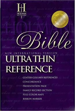 NIV UltraThin Reference Bible: New International Version (NIV), black bonded leather