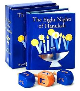 Eight Nights of Hanukkah Book and Dreidel Set