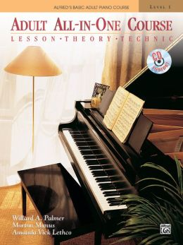 Alfred's Basic Adult All-in-One Piano Course, Bk 1: Book & CD
