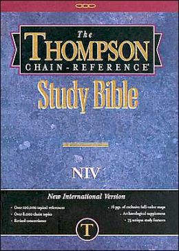 Thompson Chain-Reference Study Bible: New International Version (NIV), burgundy cloth, thumb-indexed