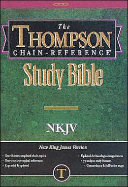 Thompson Chain-Reference Study Bible: New King James Version (NKJV), black hardcover, thumb-indexed