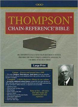 Thompson Chain Reference Bible-KJV-Large Print