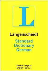 Langenscheidt Standard Dictionary German/English Plain