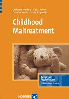 Childhood Maltreatment: Advances in Psychotherapy
