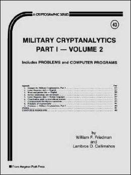 Military Cryptanalytics: Part I