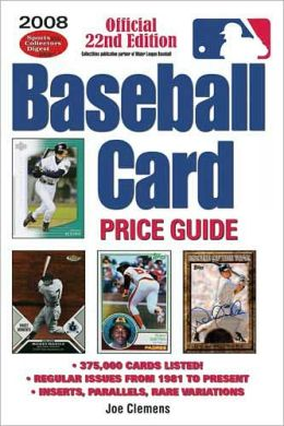 2008 Baseball Card Price Guide
