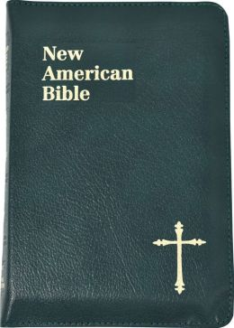 St. Joseph Personal Size Bible: New American Bible (NAB), green bonded leather, zipper closure