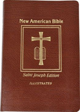 Saint Joseph Gift Bible, Deluxe Medium Size Print Edition: New American Bible (NABRE), brown bonded leather