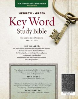 Key Word Study Bible NASB: Genuine Black