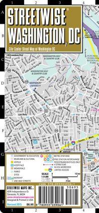 Streetwise Washington, DC Map - Laminated City Center Street Map of Washington, DC - Folding Pocket Size Travel Map With Metro (2015)