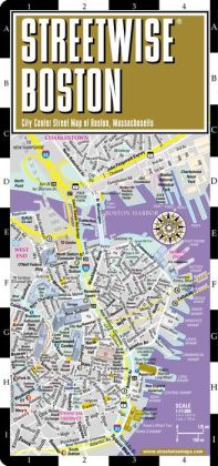 Streetwise Boston Map - Laminated City Center Street Map of Boston, Massachusetts - Folding Pocket Size Travel Map With Metro (2013)