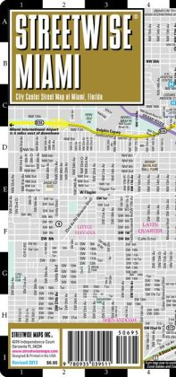 Streetwise Miami Map - Laminated City Center Street Map of Miami, Florida - Folding Pocket Size Travel Map With Metro (2013)