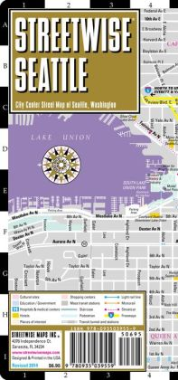 Streetwise Seattle Map - Laminated City Center Street Map of Seattle, Washington - Folding Pocket Size Travel Map With Metro (2013)