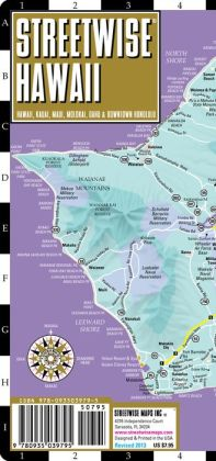 Streetwise Hawaii Map - Laminated State Road Map of Hawaii - Folding Pocket Size Travel Map (2013)