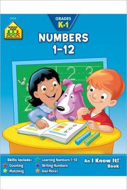 Numbers 1-12: Grades K-1