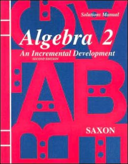 ALGEBRA 2 2E SOLUTION MANUAL