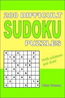 200 Difficult Sudoku Puzzles