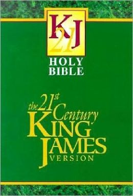 The 21st Century King James Version Bible, burgundy bonded leather
