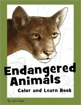 Endangered Animals Color And Learn Book