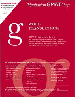 Word Translations GMAT Preparation Guide
