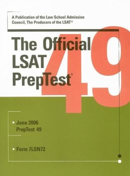Official LSAT Preptest: June 2006 Form 7lsn72
