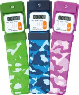 Mark-My-Time Assorted Camouflage Color Digital Bookmark with LED Book Light