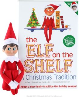 The Elf on the Shelf A Christmas Tradition (includes boy scout elf w/light skin)