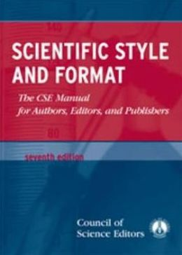 cse manual for authors editors and publishers