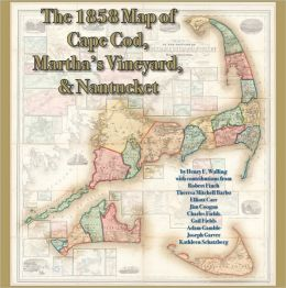 The 1858 Map of Cape Cod, Martha's Vineyard, & Nantucket