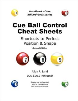 Cue Ball Control Cheat Sheets For Pool & Pocket Billiards