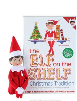 The Elf On The Shelf A Christmas Tradition Includes Girl